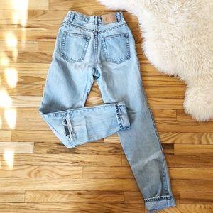 Vintage 90's High Waisted Mom Jeans light wash